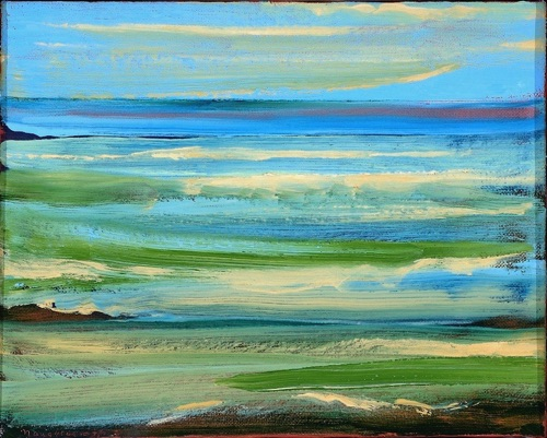 "From Haleiwa, 8"" x 10"", oil on linen, 2007, private collection."