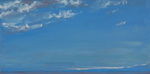 "Haleiwa III, 10"" x 20"", oil on linen, 2007, private collection."