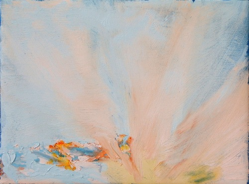 "Radiant Dawn, 9"" x 12"", oil on linen, 2006, private collection."