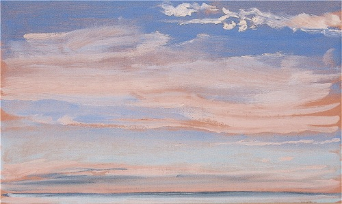 "Swept Clouds, 12"" x 20"", oil on linen, 2006, private collection."