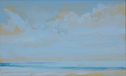 "Waimanalo Beach, 12"" x 20"", oil on linen, 2007, private collection."